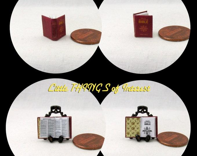 1:24 Scale CATHOLIC BIBLE Miniature Book Dollhouse Book Half Scale
