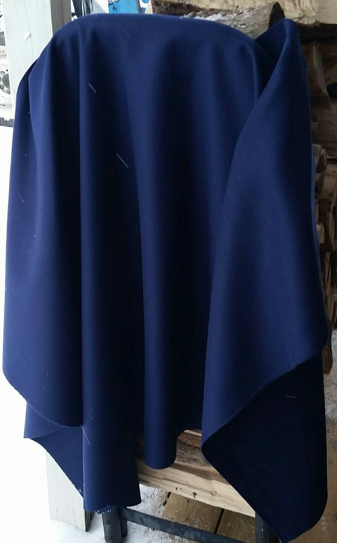 1 Yard Of Solid Navy Blue Merino Wool For Rug Making