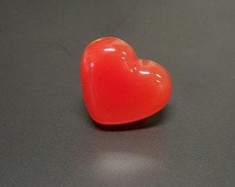 Fiery Red Heart Ring - Kawaii/Fun/Girly