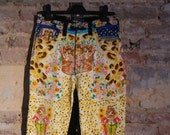 Reserved for Tanya do not buy Original Vintage Gianni Versace cats kittens and flowers trousers