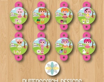 Lalaloopsy Birthday Straw Toppers - INSTANT DOWNLOAD