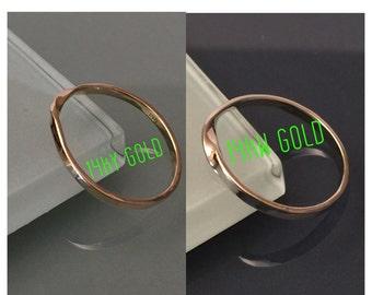 14k Gold Ring, 14k Mobius Ring