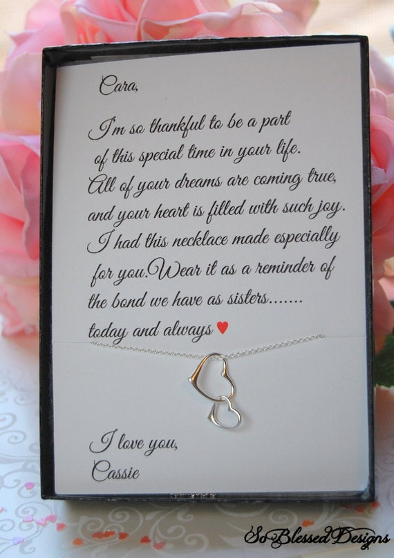 Wedding Gift For Sister Of The Bride : of Honor gift, Sister of the Bride gift, Wedding gifts, Sister gifts ...