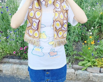Egg and Toast scarf