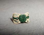 Jade Macrame Bracelet, Light Macrame Jewelry, Green, Beige, Apple Green, Pisces, Gemini, Scorpio, and Aquarius.