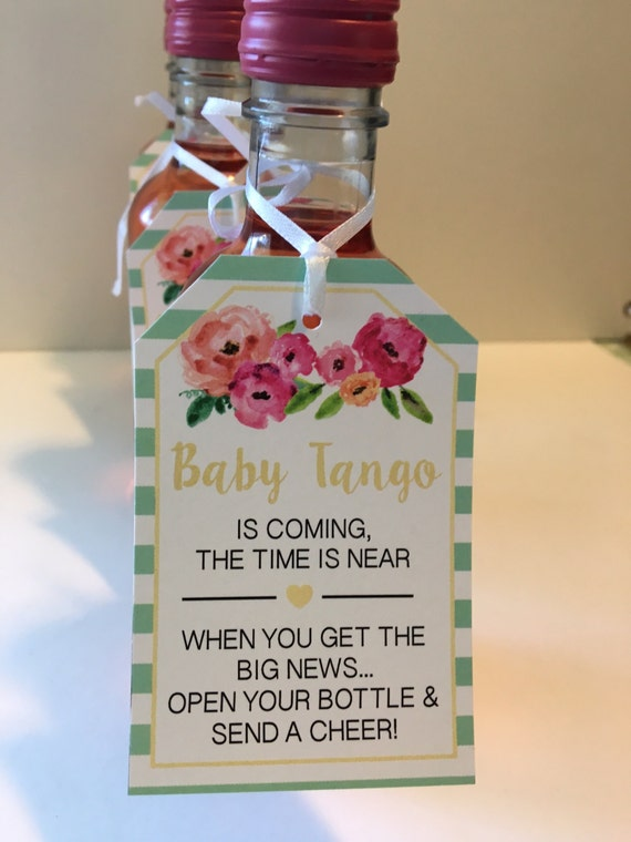 Like this item Baby Shower Favor Tags for Mini Wine Bottles Wine Bottle. Mini Wine Bottle Favors For Weddings. Home Design Ideas