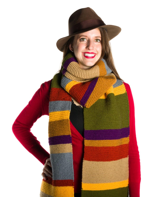 Doctor Who Scarf Tom Baker Scarf Hand Knit Season 12