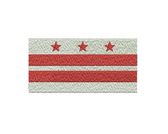 "Machine Embroidery Design Instant Download - ""District of Columbia"" Flag DC United States of America USA"