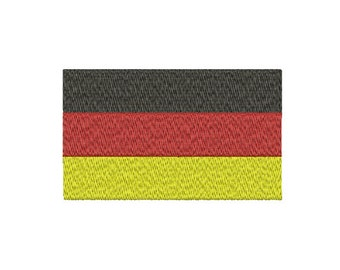Machine Embroidery Design Instant Download - German Tricolor Flag