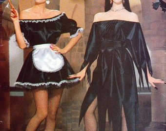 Elvira, French Maid, Witch Costume Patterns, ladies Sizes 6 to 24, Plus size Costume Pattern, Easy To Sew Pattern Halloween, Butterick 5800