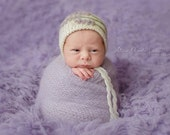Newborn Props Lavender Mohair Wrap - Light Purple Newborn Stretch Wrap - Lilac Newborn Mohair Wrap - Purple Mohair Wrap - Ready to Ship