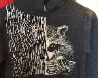 Raccoon on Youth Sweatshirt