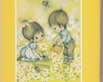 Vintage Hallmark Gift Book Daisy Days Happy Moments 1970
