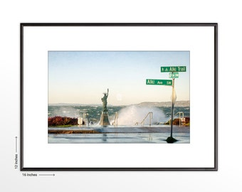 Alki Beach. Puget Sound. Seattle. Pacific Northwest. Nature Photography. Framed Fine Art Print. FREE SHIPPING.
