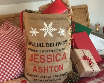 PERSONALISED Christmas Sack - Santa Sack - Christmas Stocking