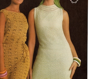 PDF crochet dresses the patterns are in Spanish