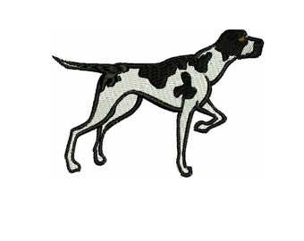 a dog embroidery design  Pointer