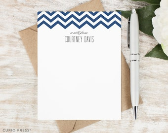 Personalized Stationery Set / Personalized Stationary / Personalized Note Cards / Wedding Bridesmaid Gift / Thank You Cards // CHEVRON TOP
