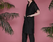 Black linen pants women, black linen trousers womens, eco organic soft linen, summer linen pants