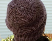 Gray Chunky Knit Hat - Knit Hats Women - Grey Merino Wool Hat - Slouchy Beret - Winter Hats for Her - Knit Wool Beanie or Fitted Skull Cap