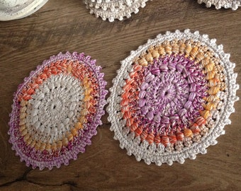 Handmade crochet coasters rochet coasters Cotton coasters Home decoration Cotton doily Crochet doily Home accessories Set of 6 coasters