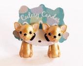Chihuahua earrings, Chihuahua earring jackets, cute Chihuahua earrings, Chihuahua studs, cute earrings, teen jewelry, cute jewerly