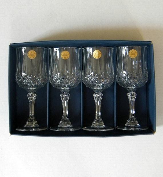 cristal d 39 arques genuine lead crystal wine glasses set of. Black Bedroom Furniture Sets. Home Design Ideas