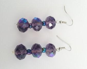 Purple/blue Drop Earrings