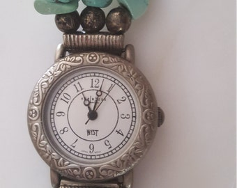 Genuine turquoise 80s 90s watch like new!