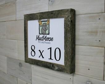 """8x10 Barn Wood [Chunky x 1.25""""] Picture Frame... (aka MadMoose Chunky Frame, Rustic Shabby Chic Picture Frame, Weathered Wood Frame)"""