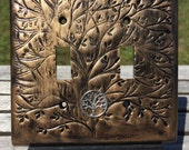 Tree of Life Polymer Clay Light Switch Plate Cover (double toggle shown)