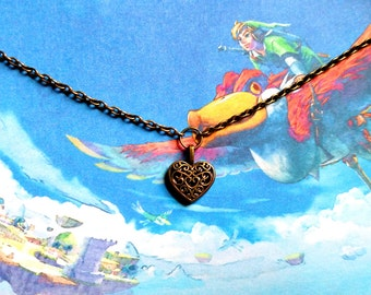 FINAL BLOWOUT SALE--60% off Skyward Sword-inspired Heart Container bracelet