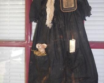 Prim Witch Dress,door hanger,Halloween Decor,FAAP,OFG,HAGUILD