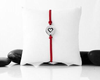 Heart Bracelet, Sterling Silver, Silver Heart, Heart, Friendship Bracelet, Love Bracelet, Everyday Bracelet, Heart Jewelry, b246cSS