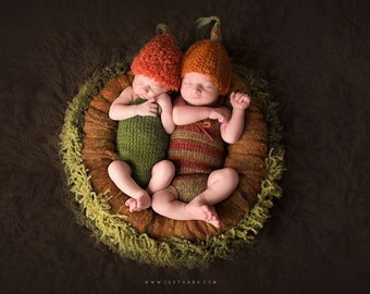 Pumpkin hat / newborn pumpkin hat / halloween pumpkin hat / knit pumpkin / photography props newborns baby / newborn photo prop halloween