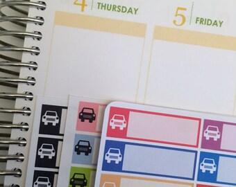 Car Forget Me Nots / Car Maintenance Stickers / Functional Quarter Boxes for Erin Condren Life Planner / Oil Change, Car Maintenanc Stickers