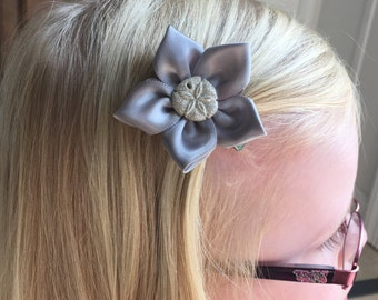 Sand Dollar Hair Clip/Hair Bow, Kanzashi, Clam Shell, Starfish, Seahorse, Spiral Shell, Conch Shell Also Avaiable