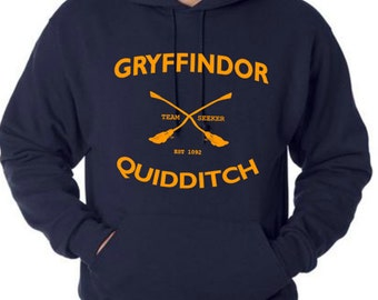 Quidditch hoodie shirt Unisex Size S to 3XL
