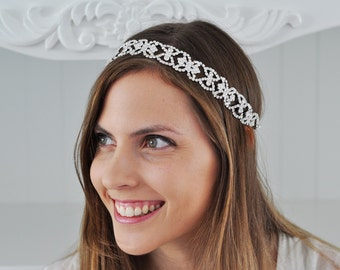 WEDDING HEADBAND, Bridal Headpiece, Wedding Headpiece, Bridal Swarovski Headpiece