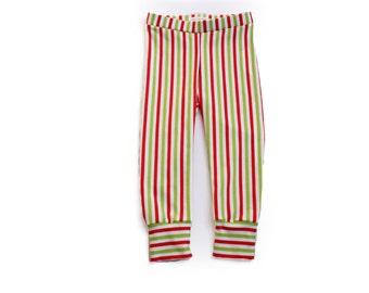 Christmas striped baby leggings or harem pants.