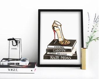 Louboutin Shoes Poster PRINTABLE FILE - louboutin print, louboutin decor,  fashion print, girly print, girly wall art, feminine art print