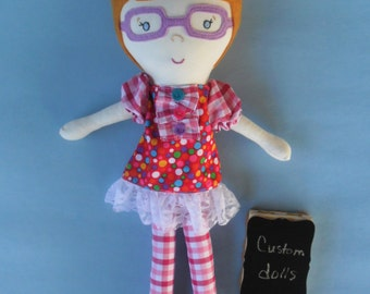 Personalize Doll, Rag Doll, Custom Dolls, Toddler Birthday