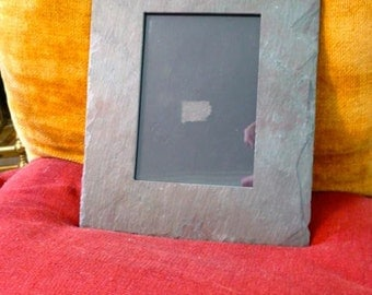 Real Slate Frame 8.5 x 10 with Back Board with Positioning Flap Shabby Chic Industrial
