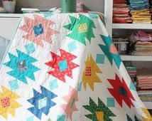 Tahoe quilt pattern by Cluck Cluck Sew - modern geometric, Allison Harris, aztec, native, confident beginner quilt, fat quarter quilt