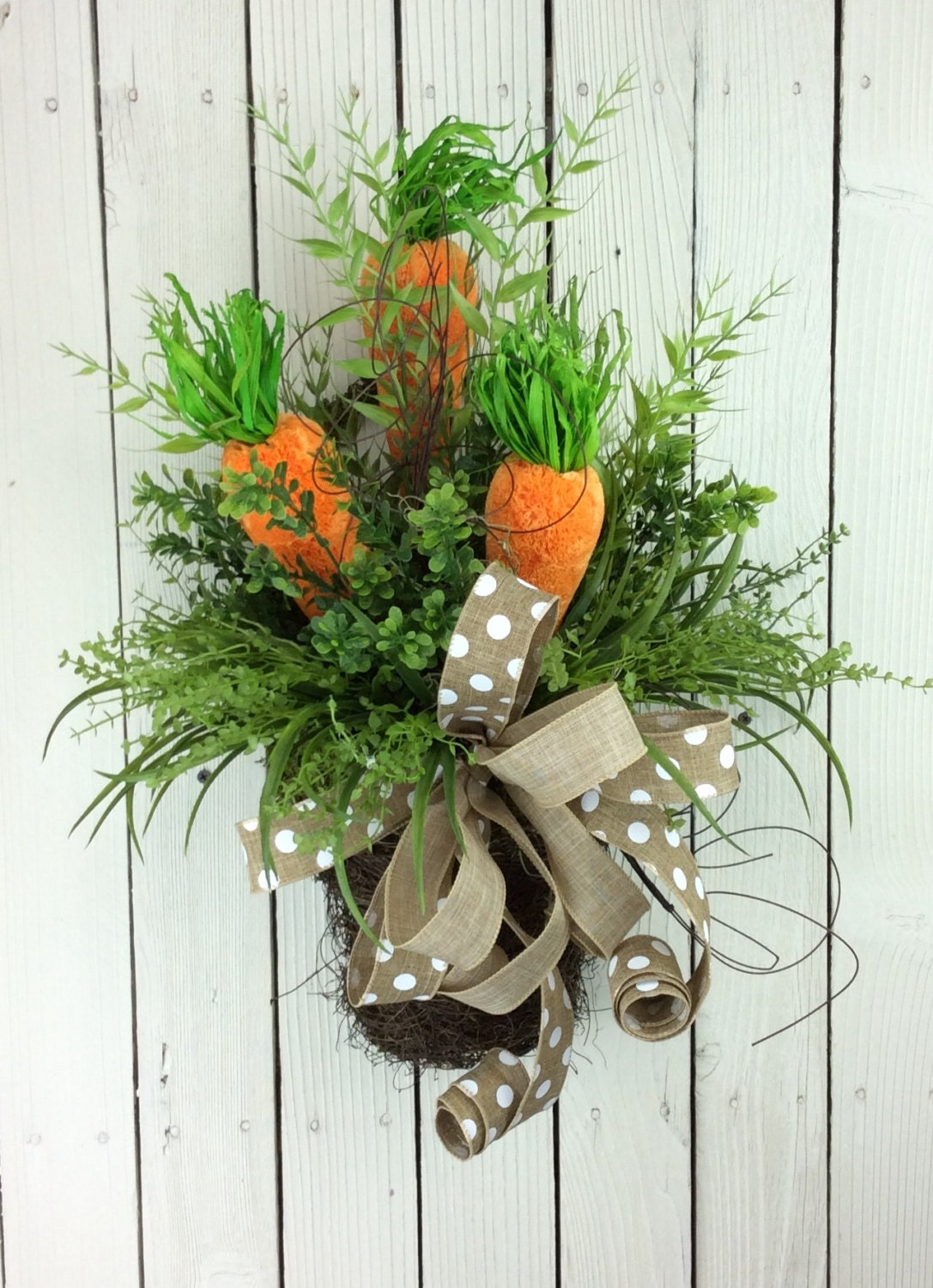 Easter Door Basket Carrot Wreath Easter Wreath Easter Door