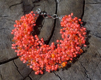 Mothers day gift Terracotta bracelet indian jewelry orange bracelet for her terracotta jewelry bracelet cute bridal bracelet orange jewelry
