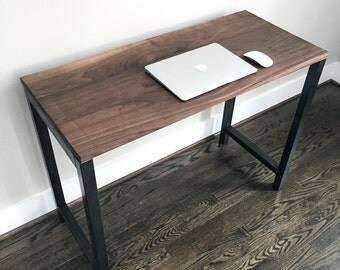 "The ""Keystone"" Desk - Reclaimed Wood Desk - Reclaimed Wood & Steel Desk - Reclaimed Wood"