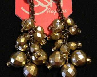 Earrings Golden geo