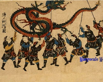 Japanes Woodblock Print No. 1 Digital Download JPG Image