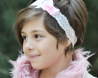 Baby pink butterfly, butterfly crown, butterfly headband, whimsical headband, polka dot headband, toddler headband, girls headband, headband
